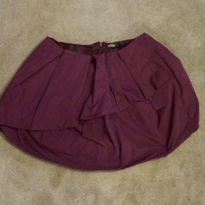 Kate Spade Saturday plum bubble skirt 10
